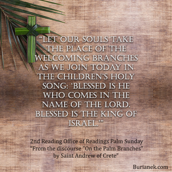 Palm Sunday Office of Readings